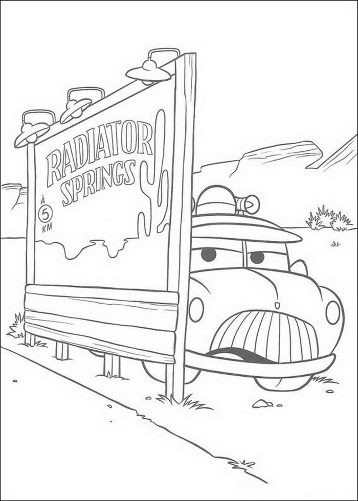Sheriff Coloring Page From Disney Cars Category Select 25646 Printable Crafts Of Cartoons Nature Animals Bible And Many More