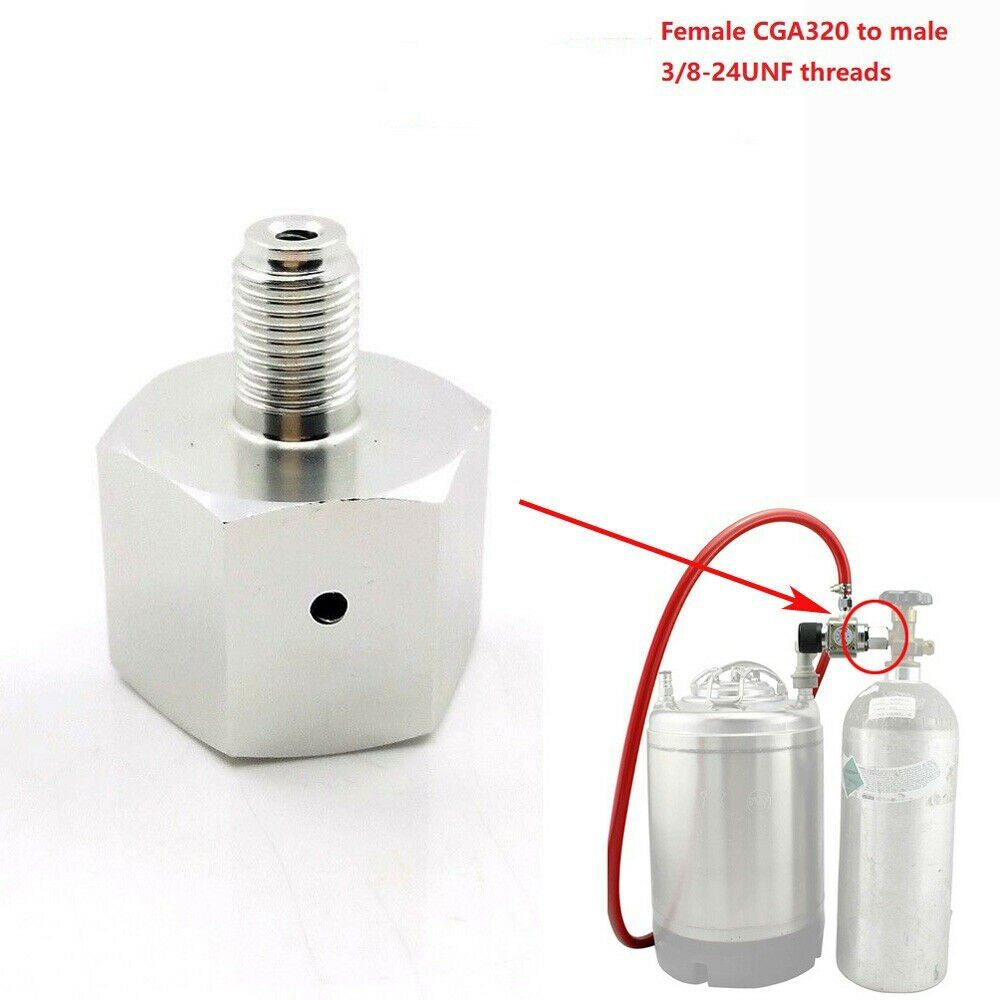 Co2 To Go Paintball Cylinder to Draft Beer Regulator Adapter