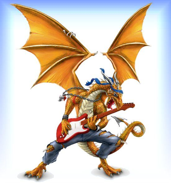 Ultimate Dragon Rock Band Figurine Collection - Guitarist ...