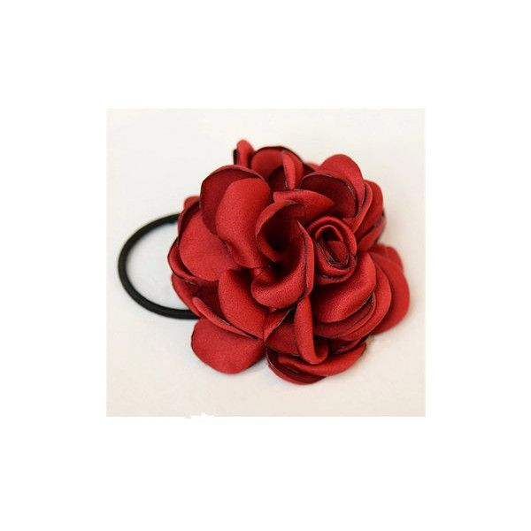Women/'s Hair Band Rope Elastic Rose Flower Ponytail Holder-Scrunchie Accessories