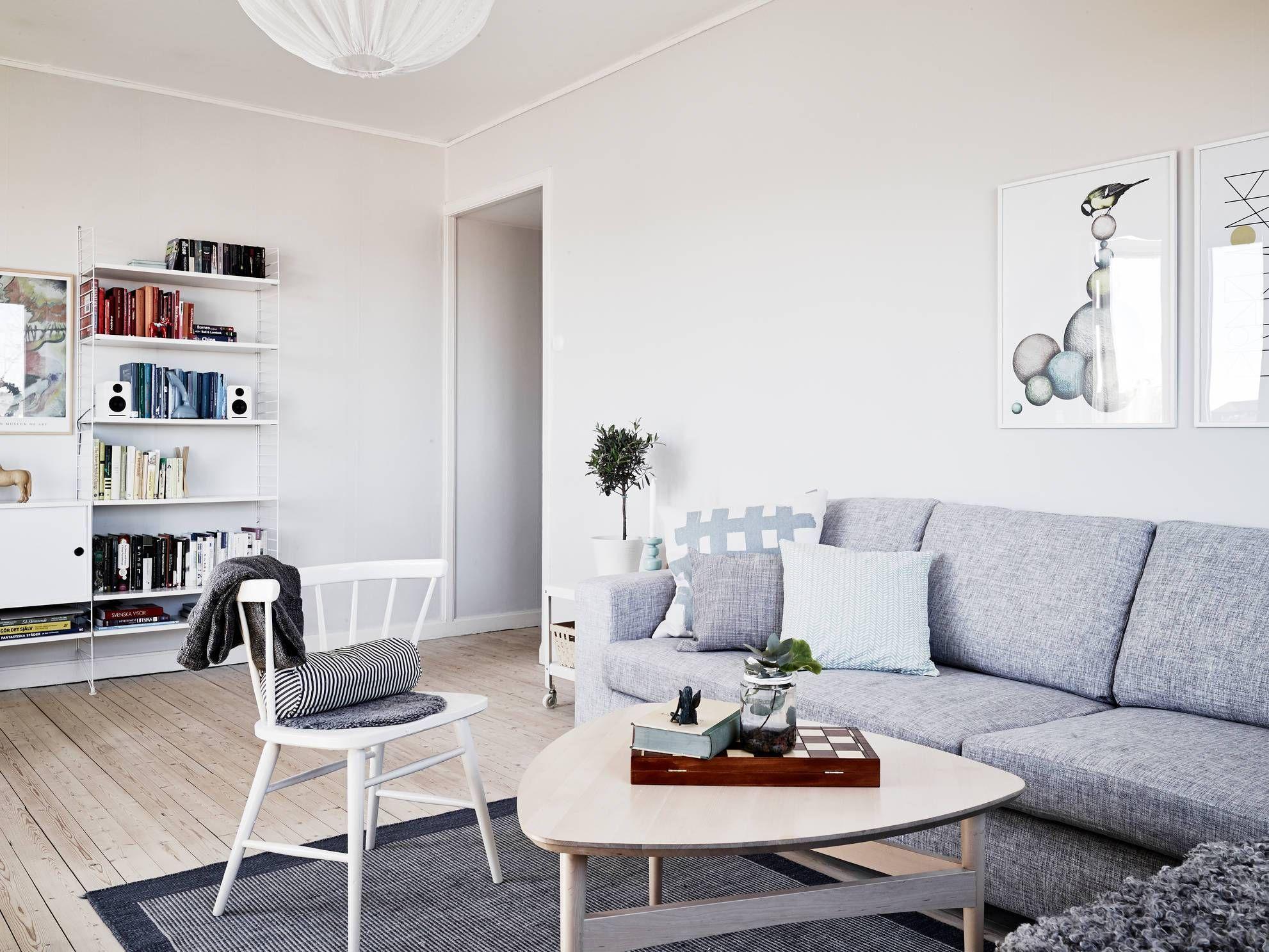 Un piso blanco y gris lleno de luz pisos blancos - Metro cuadrado decoracion ...
