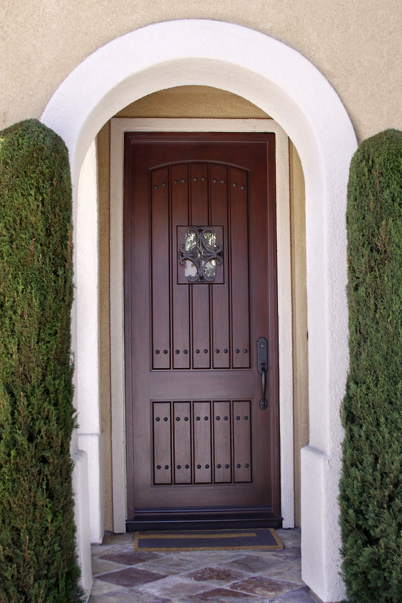 Rustic 8 Foot Tall Entry System With Speak Easy Exterior Doors Entry Doors Dutch Doors Exterior