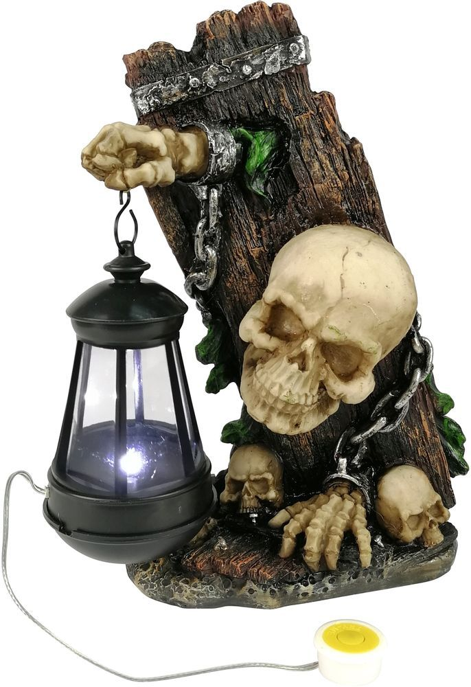 Halloween Skull With Solar Light Decor Outdoor Garden