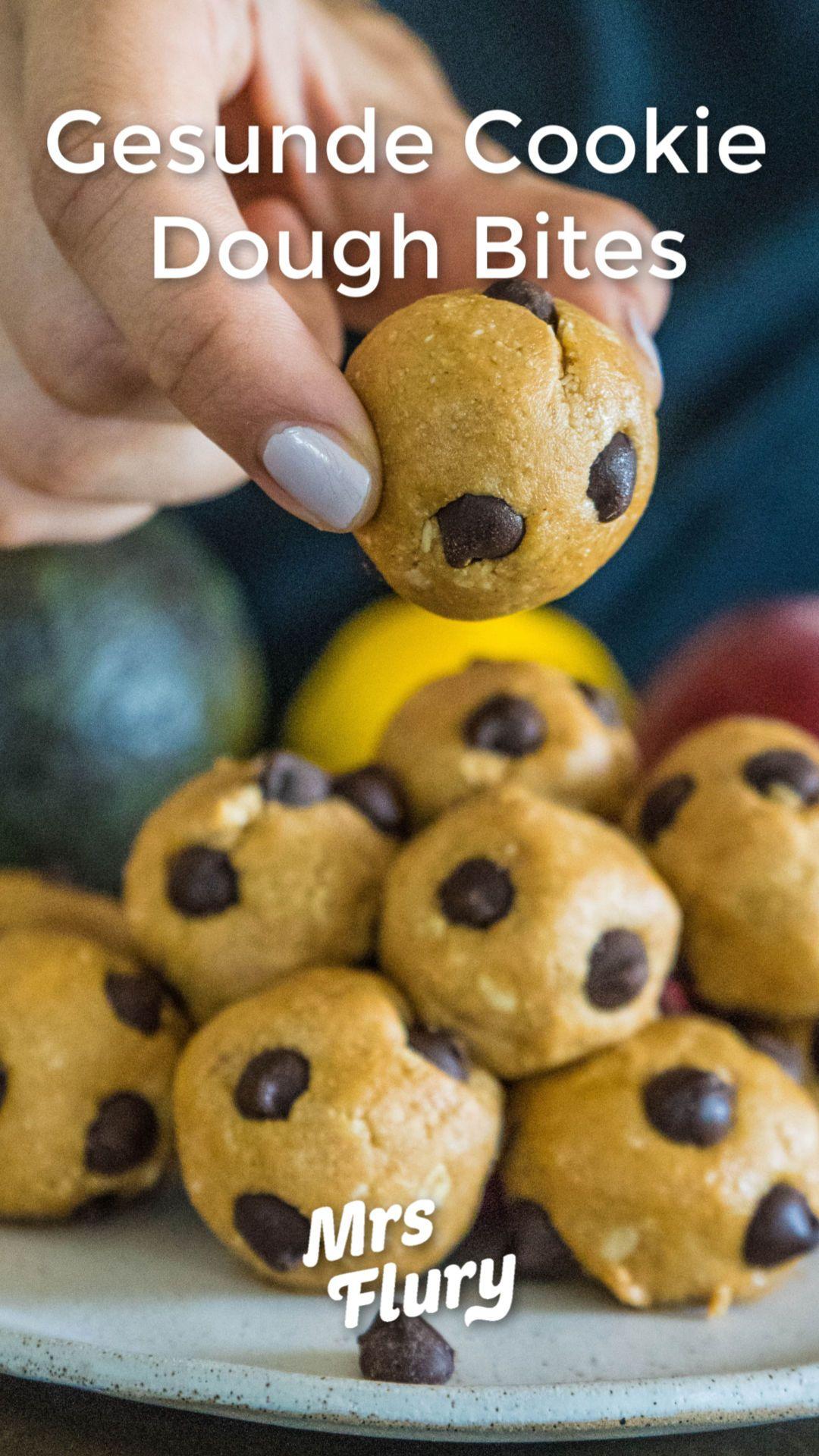 Erdnussbutter Cookie Dough Bites - Mrs Flury - Gesund essen und leben