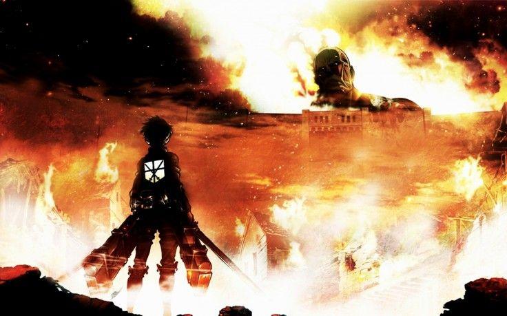 Shingeki No Kyojin Fire Anime Colossal Titan Eren Jeager Wallpapers Hd Desktop And Mobile Backgrounds Attack On Titan Anime Anime Wallpaper