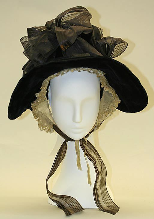 1835 poke Costume 1830 Chapeaux d'époque