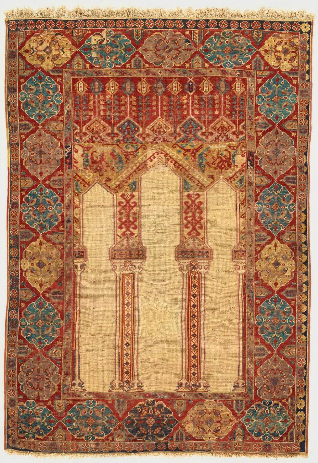 Philadelphia Museum of Art - Collections Object : Columnar Prayer Rug Columnar Prayer Rug  Artist/maker unknown, Turkish  Geography: Made in Anatolia, Turkey, Asia