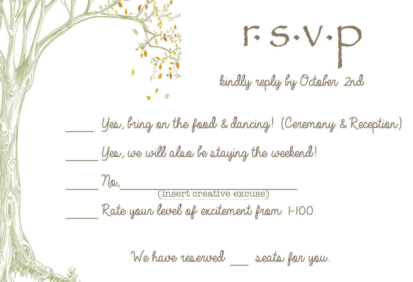 wedding invitations with response cards   Invitations card template ...
