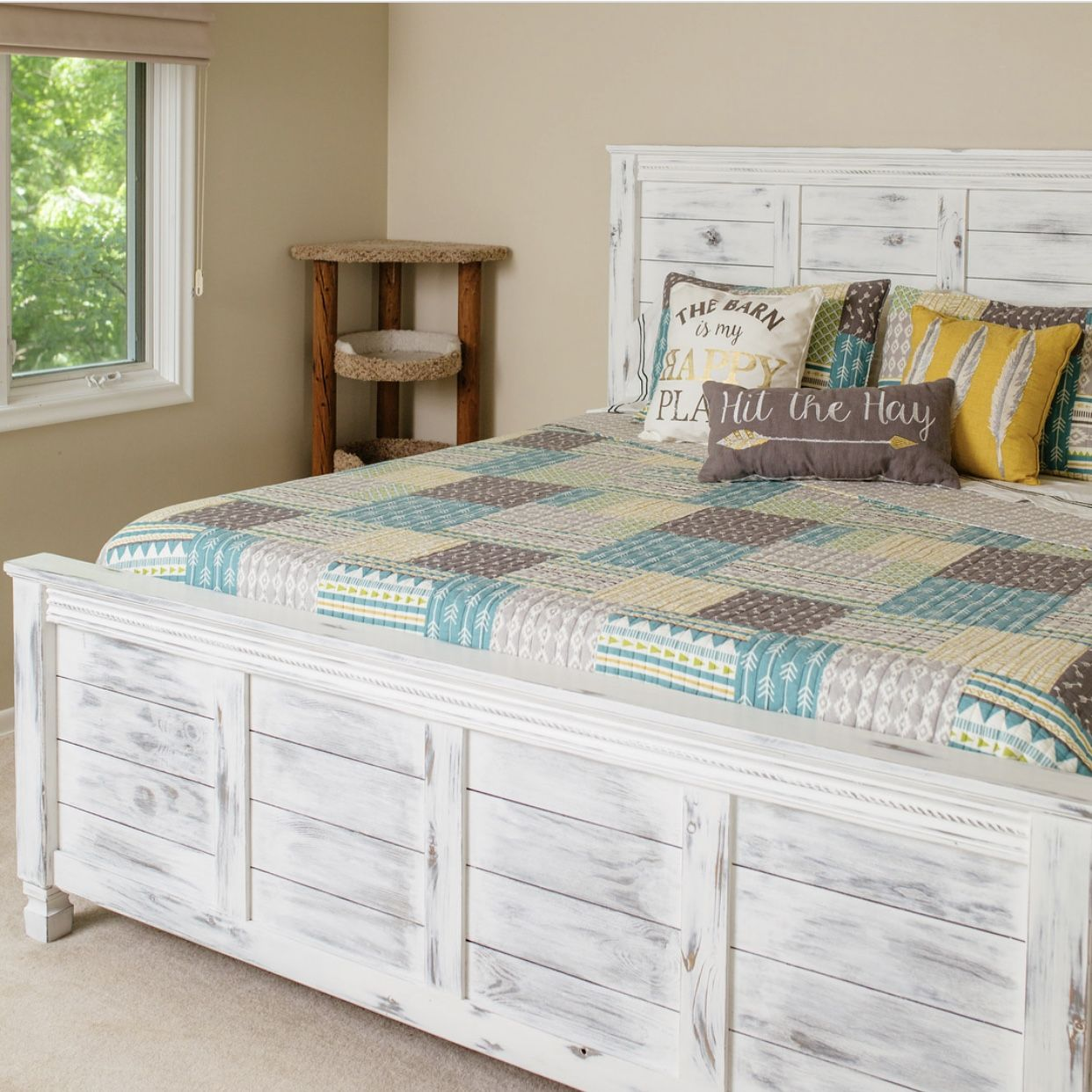 Rustic farmhouse style king size bed Bed, New beds
