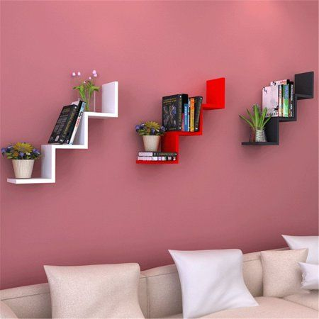 42164372ad Home in 2019   Apartment   Wall shelf rack, Floating wall shelves ...