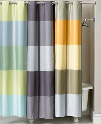 Martha Stewart Collection Bath Accessories, Encore Stripe Shower Curtain    Shower Curtains   Macyu0027s