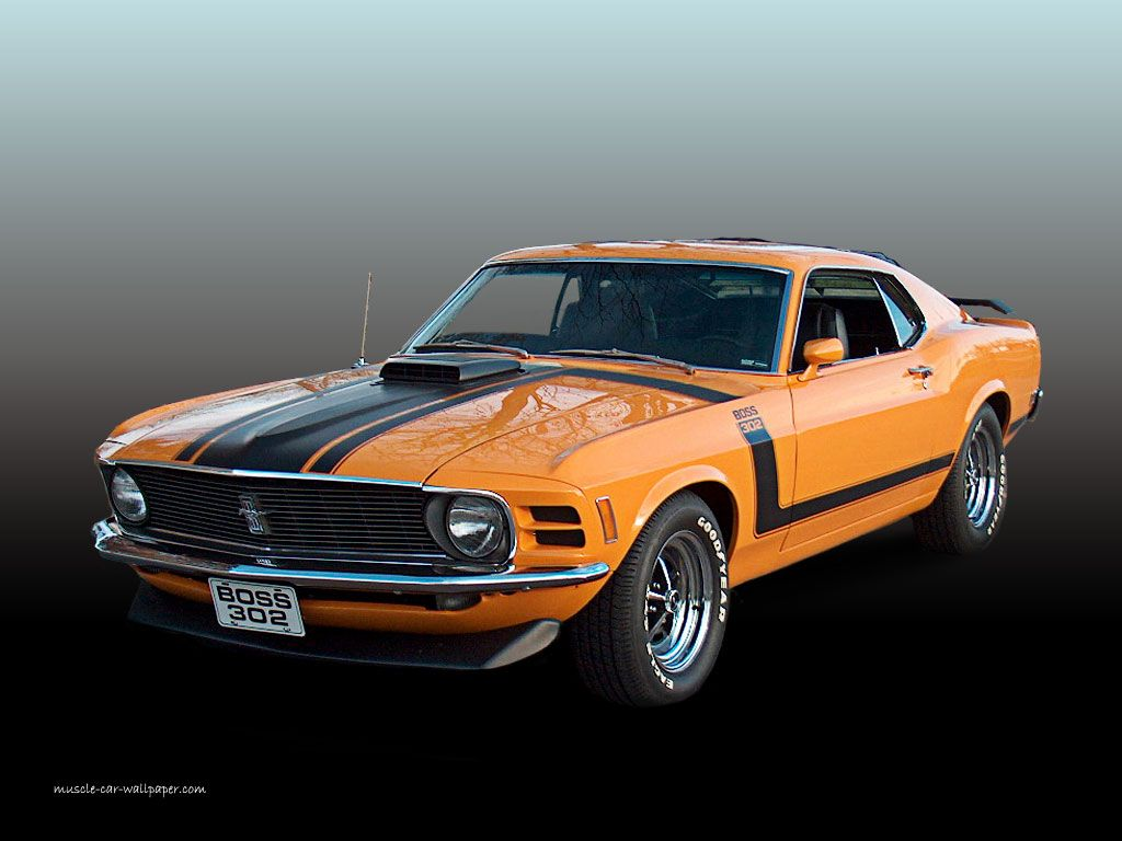1970 ford mustang  1970 Ford Mustang Boss 302  Orange Fastback