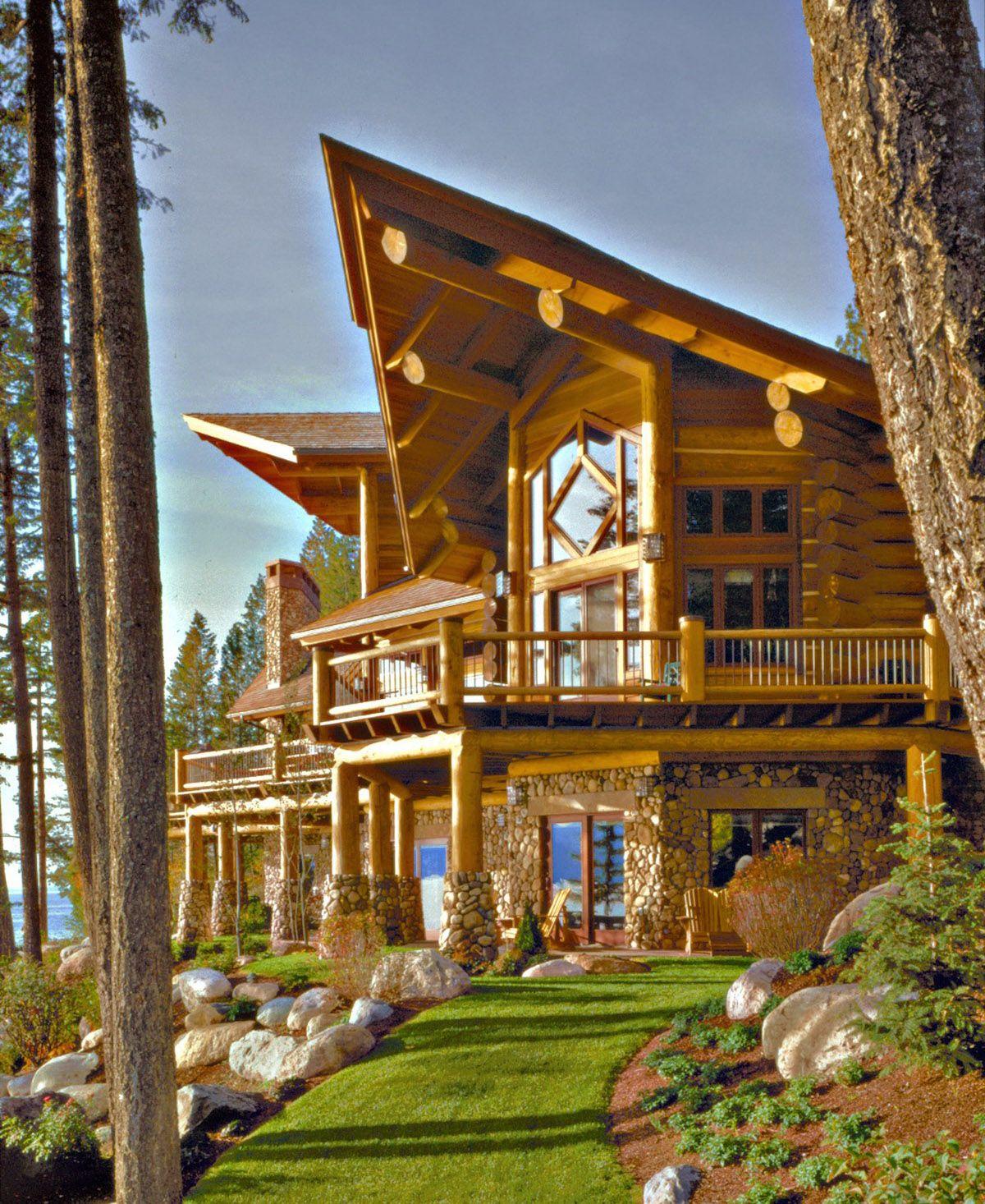 pioneer log homes lake home lnterior all interior design it 39 s arranging pinterest. Black Bedroom Furniture Sets. Home Design Ideas