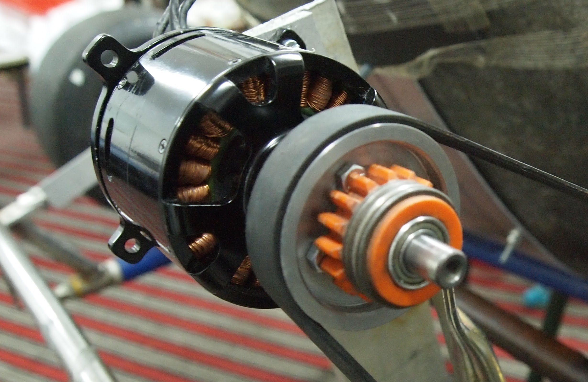 Huge Rc Motor On An Electic Go Kart Electric Powered
