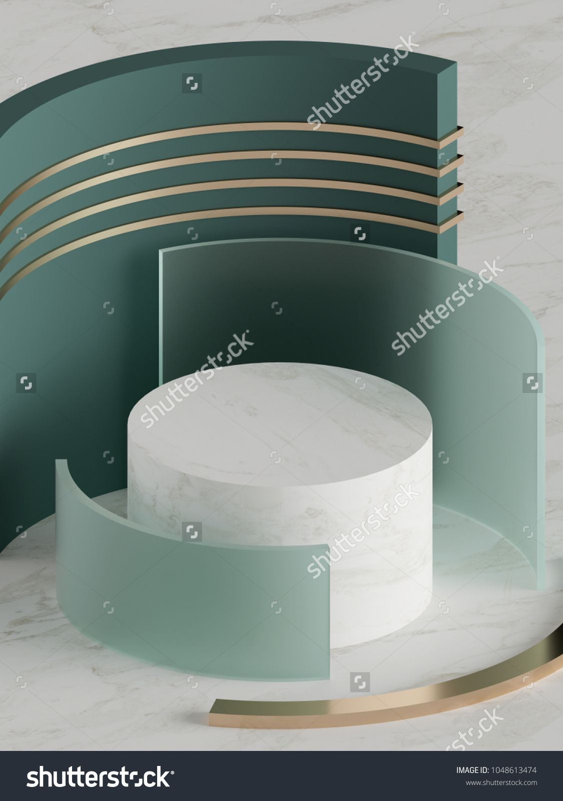 3d render, fashion mock up, abstract geometric background