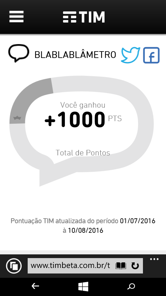 MissãoBeta 1000 pontos