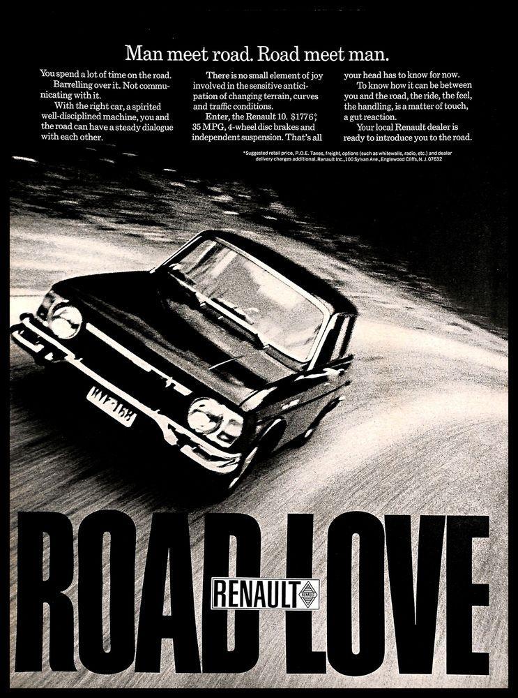 1970 renault vintage print ad french car automobile