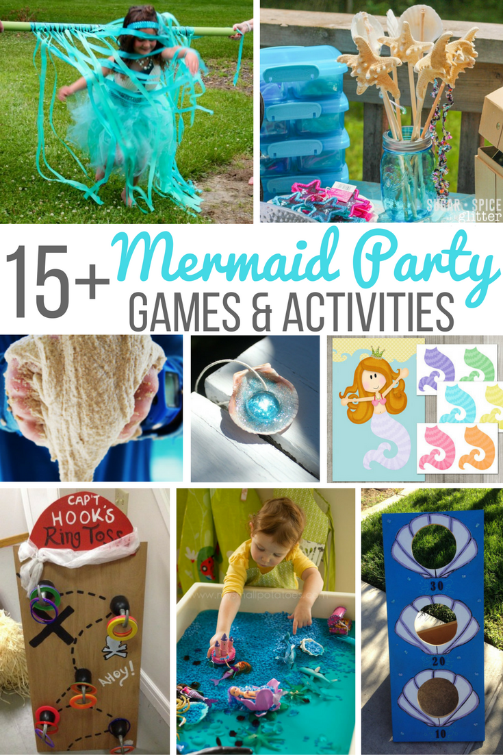 15 Mermaid Party Games Amp Activities Mermaid Party Games