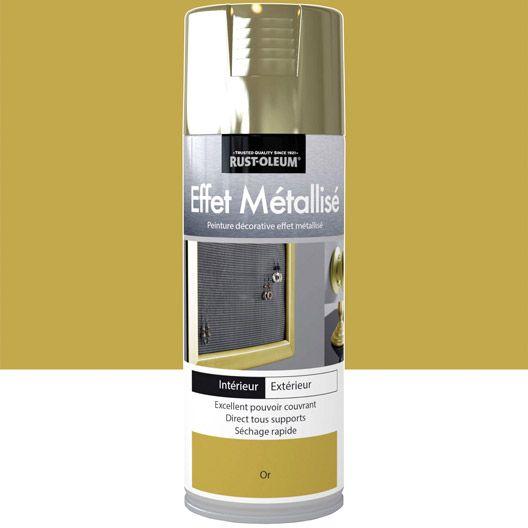 Peinture Aérosol Effet Metallisé Métallisé RUSTOLEUM, Or, 0.4 L