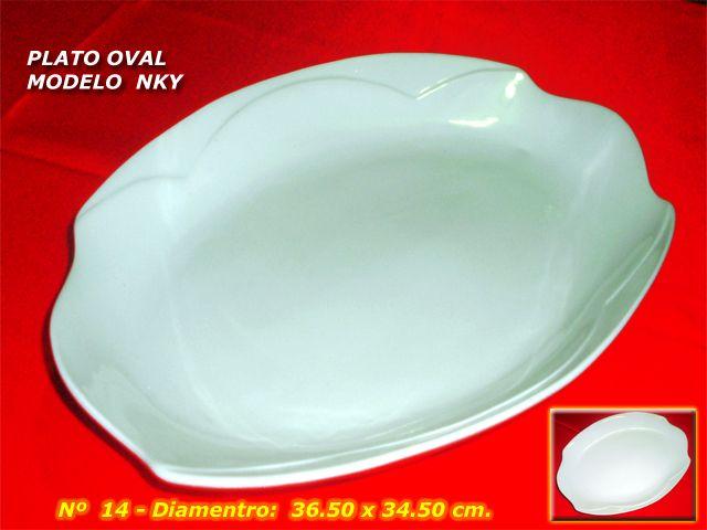 Plato Oval Modelo NKY