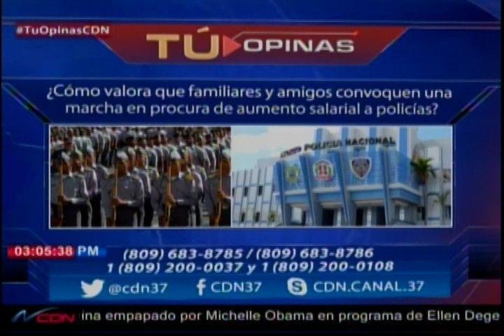 Félix Victorino con la encuesta del día ¿cómo valoras que familias y amigos de la policía convoquen una marcha por aumento salarial?