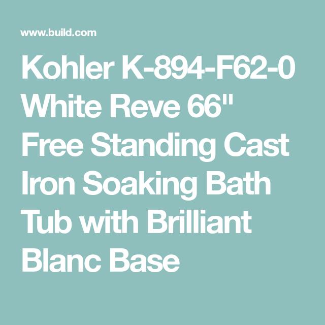 Kohler K-894-F62-0 White Reve 66\