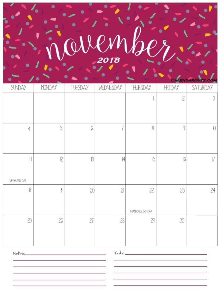 November 2018 Calendar Calenders Pinterest Calendar, Calendar
