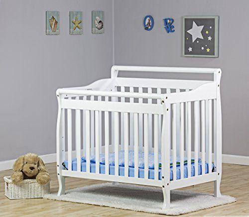 Amazon Com Dream On Me 4 In 1 Portable Convertible Crib White Baby Mini Crib Cribs Crib Mattress
