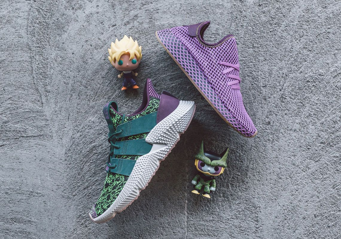 "c2fef494c3693 Dragon Ball Z x Adidas Deerupt ""Son Gohan"" Dragon Ball z x Adidas Prophere  ""Cell"""