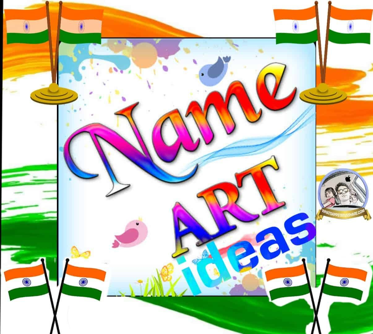Name Art Ideas How To Make Best Name Art For Ideas 5000 Whatsapp Status Video Download 2020 New For Free Name Art Kids Name Art Baby Name Art