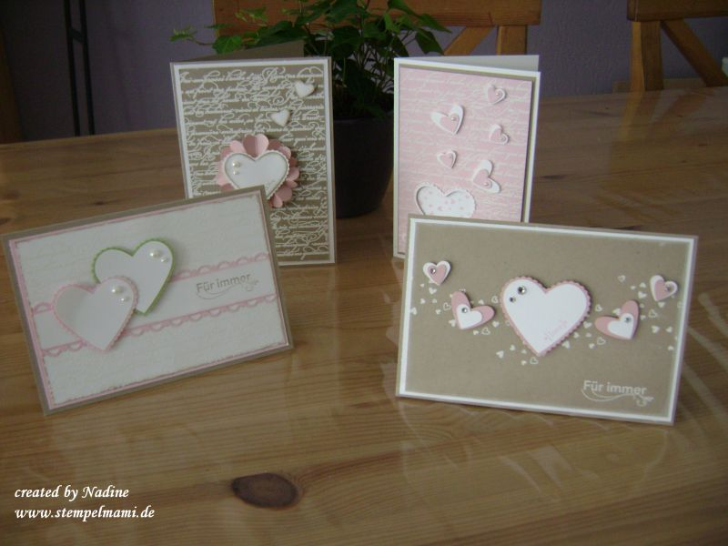 Hochzeitskarte Stampin Up Wedding Card Lovey Dovey Pinterest