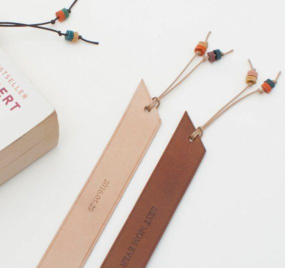 Book Club Gift Personalized Bookmark Leather Book Lover
