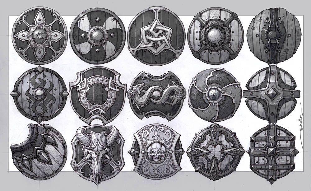 Fantasy Art Door Shield