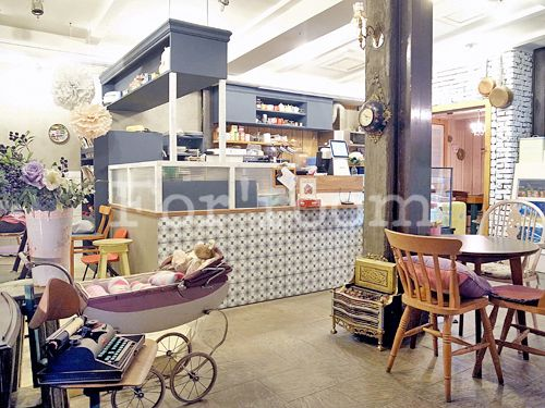F-story Cafe interior design, designed by Forroom. South Korea.