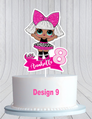 Lol Surprise Dolls Cake Topper L O L Cake Topper Cmpartycreations Doll Cake Baby Shower Cake Topper Spiderman Cake Topper