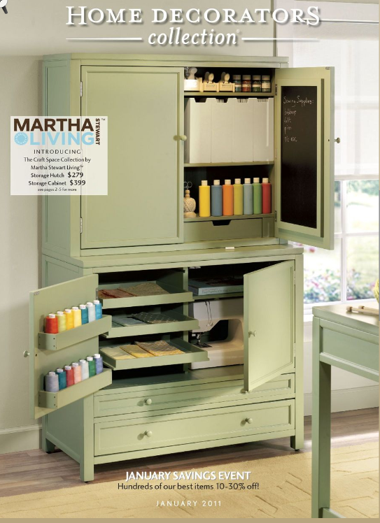 The Most Recent Cover Of The Home Decorator Collection Catalog Features This Complete Martha Stewart Craft Furniture Craft Room Storage Organization Furniture