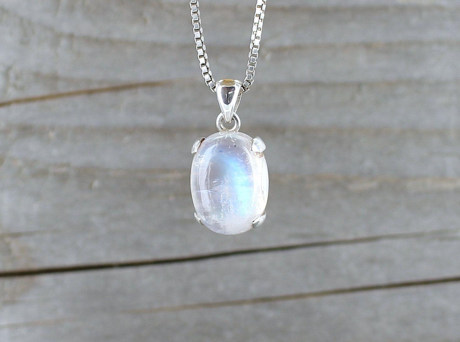 Unique pendentif pour femme pierre de lune argent 925 qualit/é par bijoutier