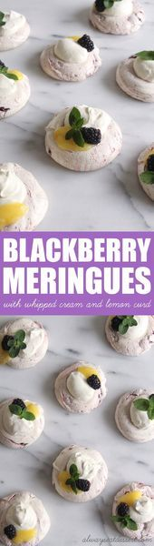 Photo of Blackberry Meringues with Whipped Cream and Lemon Curd – ALWAYS E