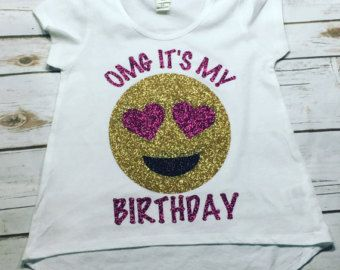 OMG Its My Birthday Emoji Shirt Neon Colors By ShopChasingDreams