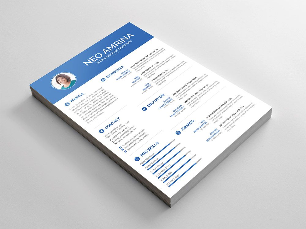 Simple Free Resume Template Free Simple Psd Resume Template For Designer  Free Resume