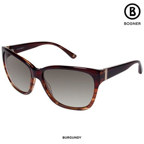 Bogner Women's Large Sunglasses with Case & Cloth - Assorted Colors at 88% Savings off Retail!