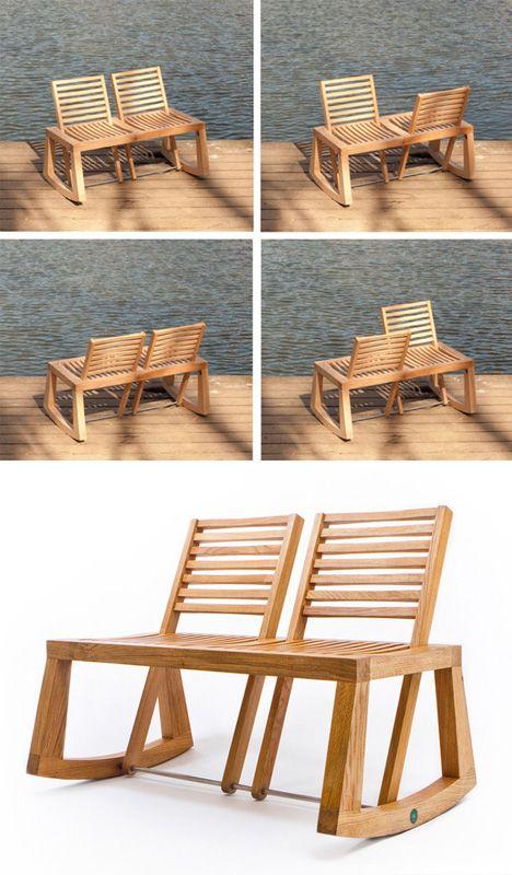 adjustable back rest bench so cool! French designer and cabinetmaker ...
