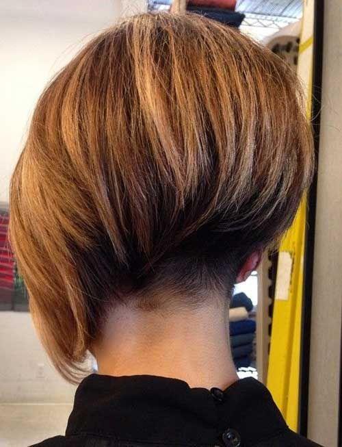 Undercut Bob Haircut Hair Styles Bob Haircut Back View Short Hair Styles