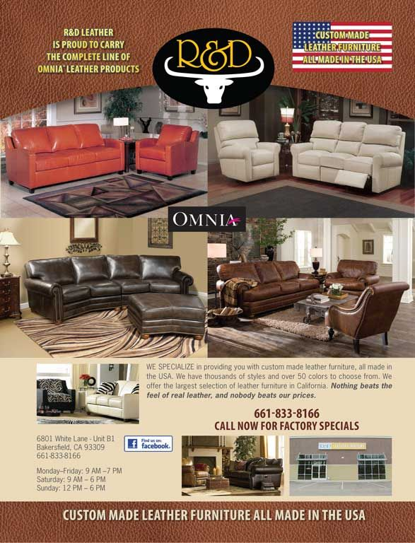 Great R U0026 D Leather Furniture   Bakersfield Magazine