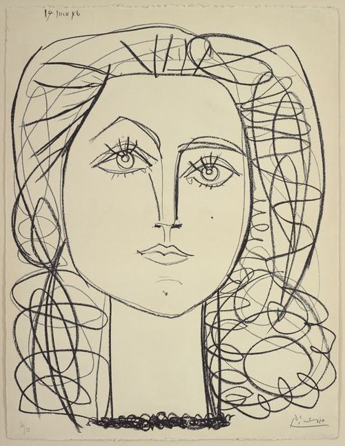 Picasso contour drawing | Tumblr