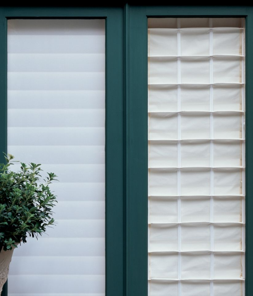 Traditional Roman Shade From An Exterior View | Window Shades ... for Window Coverings Outside  56bof