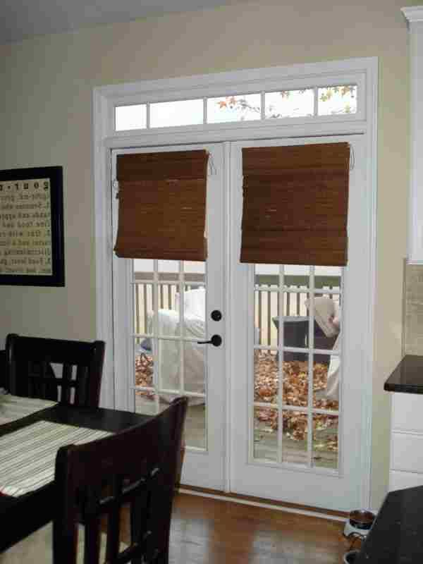 Bamboo Blinds For French Doors Photo Galleries Living Room Ideas