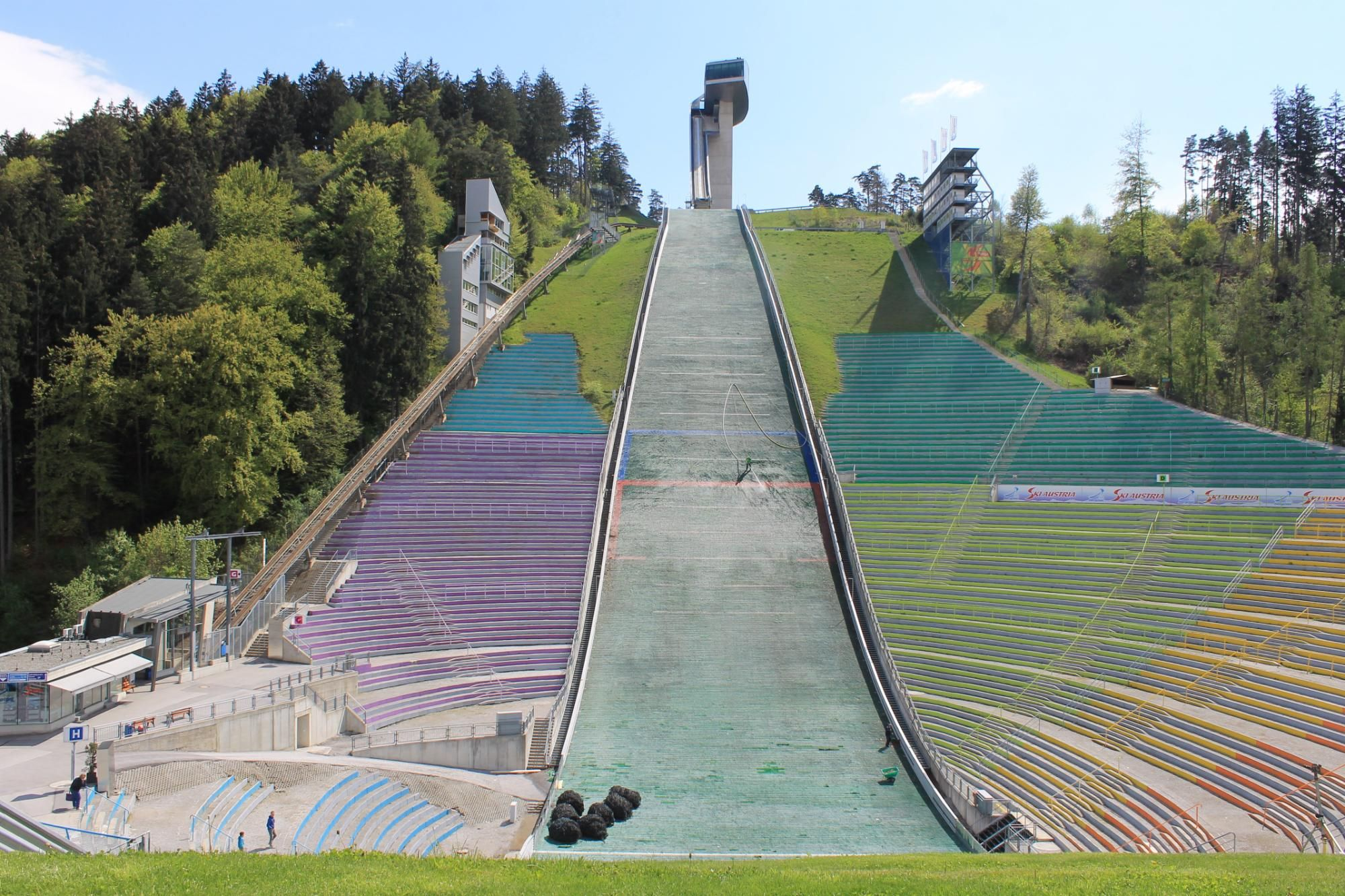 Bergisel Ski Jump Great View Of The City And Mountains
