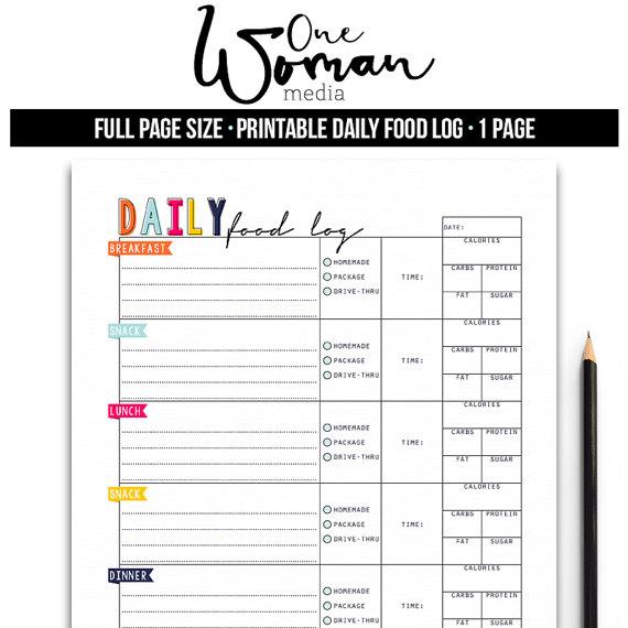 daily food diary printable