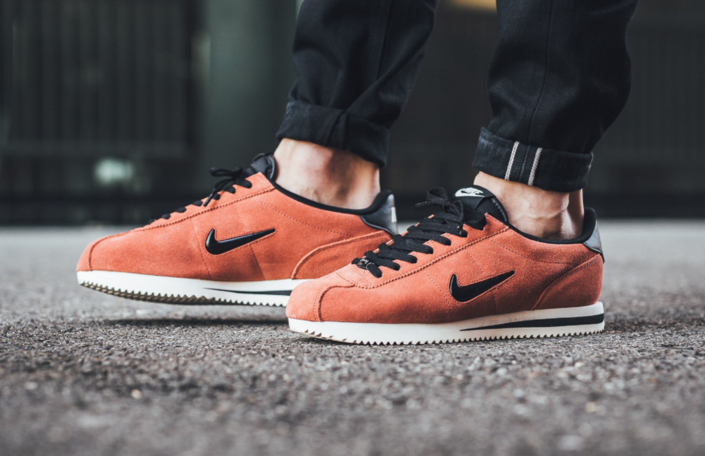 Dusty Peach Covers The Nike Cortez Jewel Suede | Nike cortez